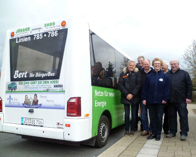 Sponsoren mit Bus